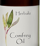 Infused Oil - Comfrey-best natural organic facial oil, body, care product, skin, healing, herb-infused oil, paleo skin care product, paleo body oil, ayurveda, tattoo aftercare products, itchy skin, self massage, sunflower oil, comfrey