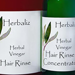 Herbal Vinegar Hair Rinse-hair rinse, conditioner, organic natural, Natural Organic Hair Care Products, anti-dandruff, healthy scalp, shiny, smooth