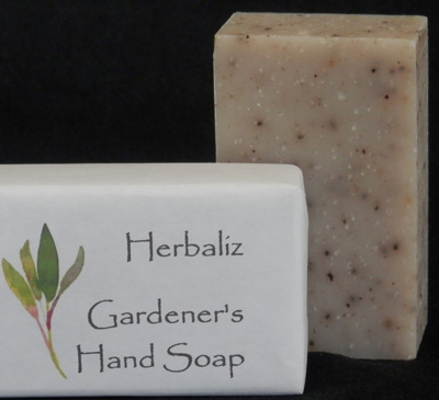 Gardener's Hand Soap-gardening soap, hand soap, workmans soap, Lava, pumice soap, kitchen soap, nails, cuticles, ground in dirt